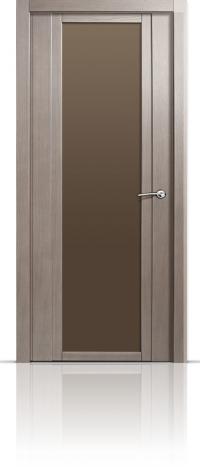 Дверь Мильяна Qdo X Дуб грейвуд Бронзовое стекло