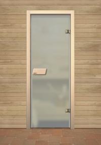 Матовая финская дверь для сауны Narvia