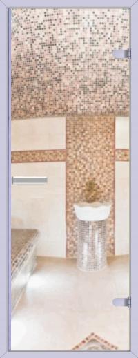 Двери для сауны Хамам прозрачная ID-134 алюминий