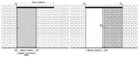 Схема одностворчатой стеклянной раздвижной двери