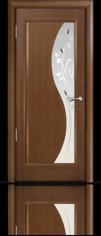 Дверь Мильяна серия Стелла модель Элиза Палисандр модельное стекло