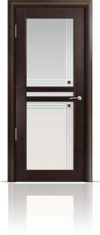 Дверь Мильяна серия Стелла модель Натель Венге модельное стекло