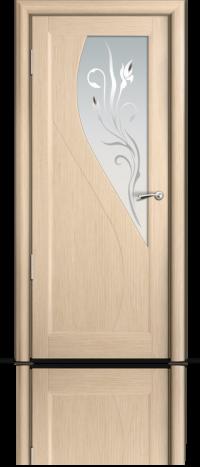 Дверь Мильяна серия Стелла модель Яна Беленый дуб модельное стекло