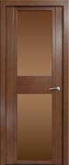 Дверь две вставки стекла Qdo D
