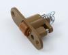 Качественная роликовая защелка на дверь в сауну или баню оливка