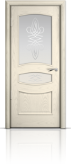 Дверь Венеция Ясень жемчуг стекло гранд