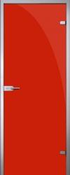 Стеклянная дверь Red (красная)