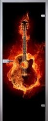 Стеклянная дверь Guitar