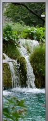 Стеклянная дверь Waterfall