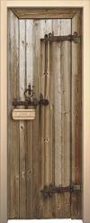 Двери для сауны Арт с рисунком ГлассДжет Старое дерево