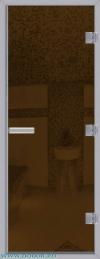Дверь для сауны Хамам 60G бронзовая