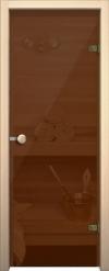 Стеклянная дверь для сауны АКМА light бронза Ручка кноб-магнит Оливка