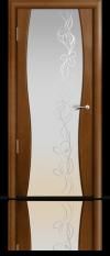 Дверь Мильяна Омега 1 Анегри Белое стекло рисунок Фантазия