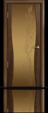 Дверь Мильяна Омега 1 Американский орех Бронзовое стекло рисунок Фантазия