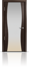 Дверь Мильяна Омега 1 Венге Белое стекло