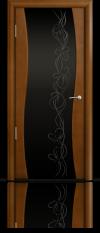 Дверь Мильяна Омега  Анегри  Черное стекло рисунок Фантазия