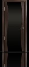 Дверь Мильяна Омега  Венге Черное стекло