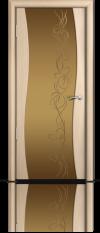 Дверь Мильяна Омега  Беленый дуб  Бронзовое стекло  рисунок Фантазия