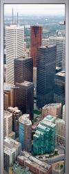 Стеклянная дверь Skyscrapers