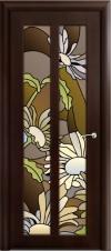 Дверь Дана Темный орех с фотопечатью на стекле