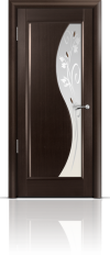 Дверь Мильяна серия Стелла модель Элиза Венге модельное стекло