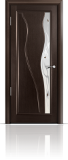 Дверь Мильяна серия Стелла модель Ирэн Венге модельное стекло