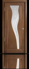 Дверь Мильяна серия Стелла модель Лантана Палисандр модельное стекло