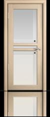 Дверь Мильяна серия Стелла модель Натель Беленый дуб модельное стекло