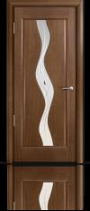 Дверь Мильяна серия Стелла модель Веста  Палисандр модельное стекло