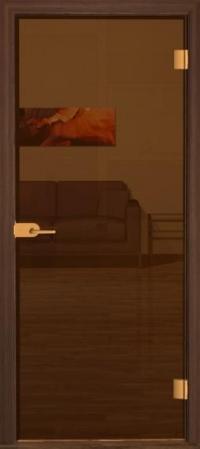 Прозрачная бронзовая дверь